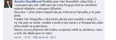 Renáta Musálková přiznává