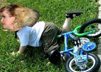 Iveta spadla z kola