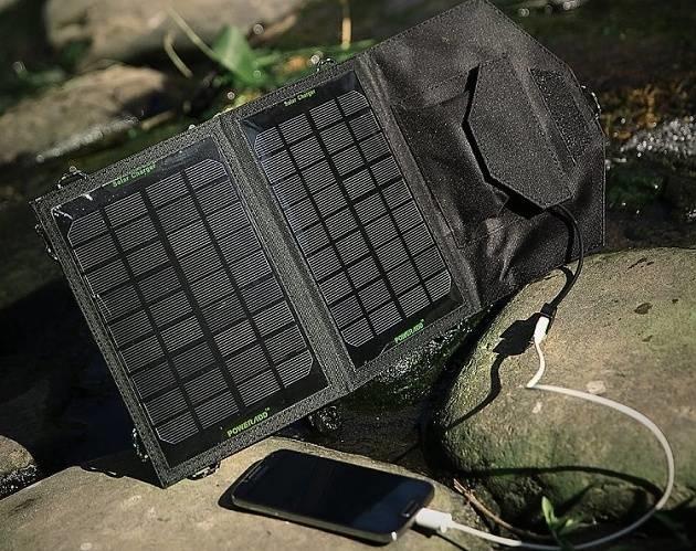 solární USB nabíječka